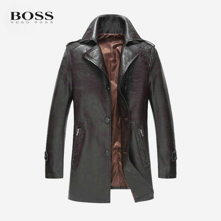 Parka cuir homme solde