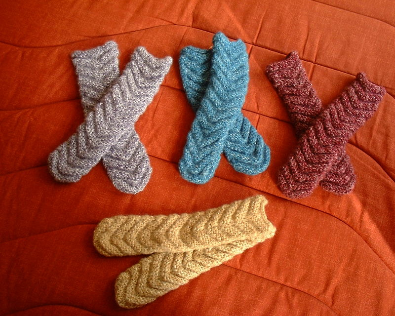 Tricoter chaussettes fille