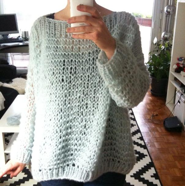 tuto pull oversize tricot