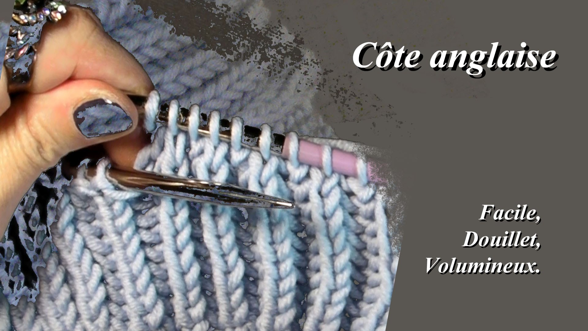 Tricotage maille anglaise