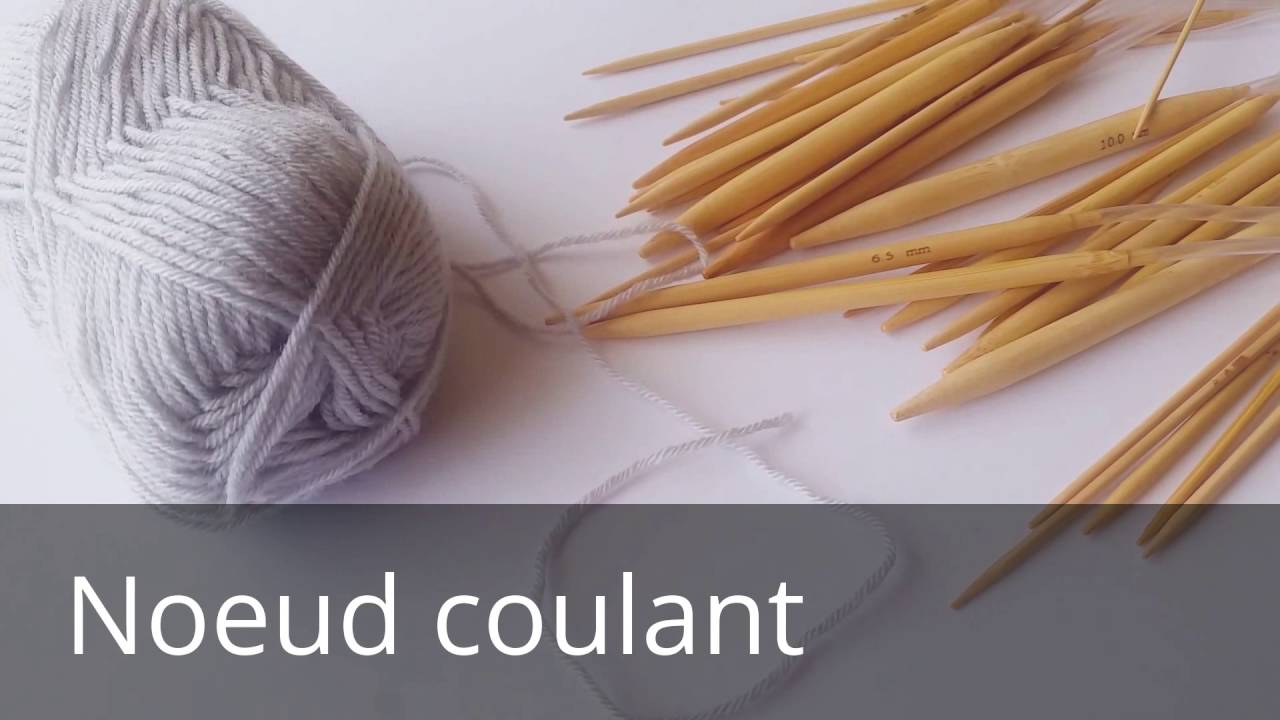 Noeud coulant tricot