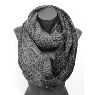 Tricoter un snood noir