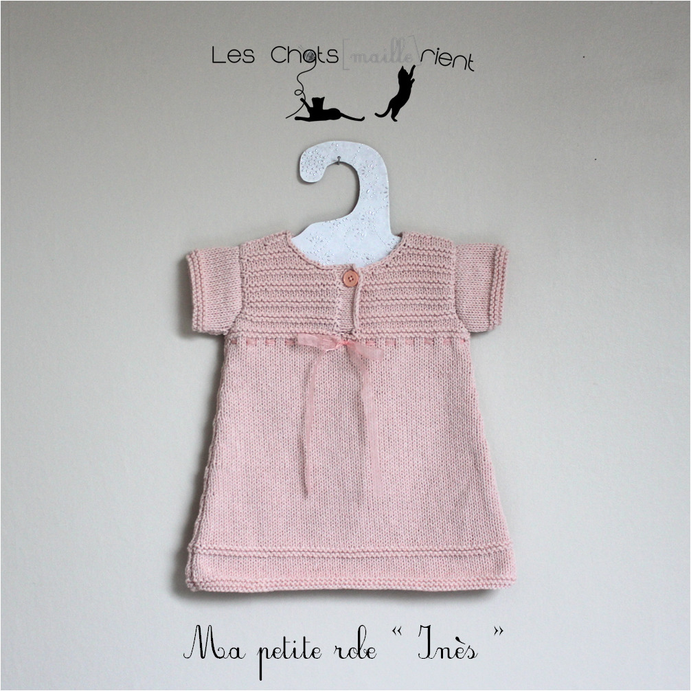 Tricot robe bebe fille