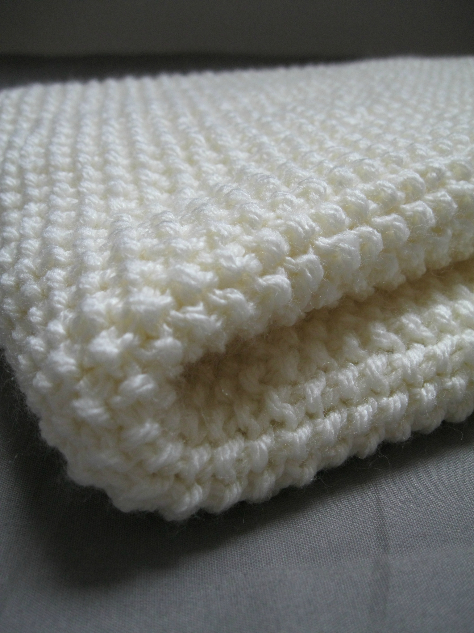 Couverture tricot point de riz
