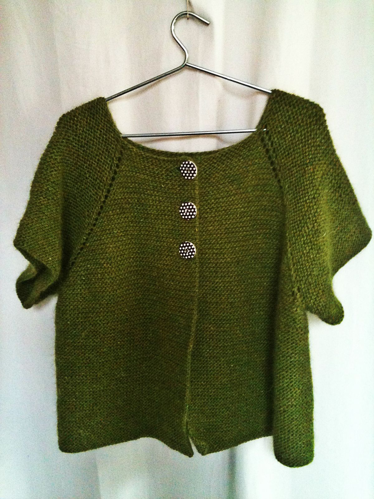 Tricot gilet rond