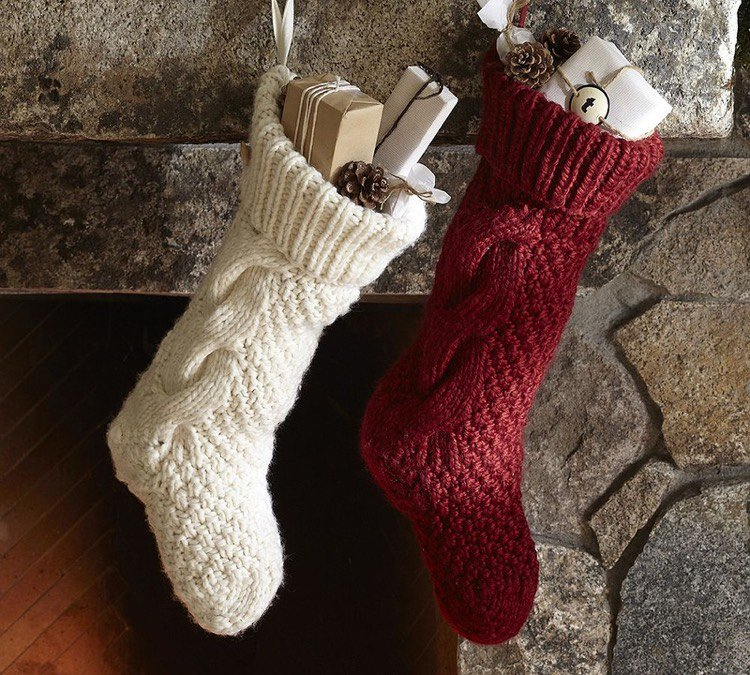Tuto tricot chaussettes noel