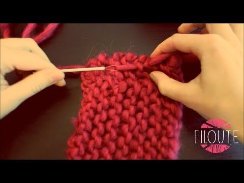Youtube couture invisible au tricot