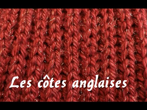 Tricot côtes 1/1 youtube