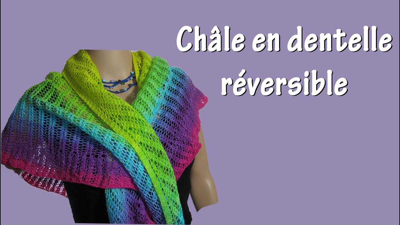 Chale tricot point fantaisie