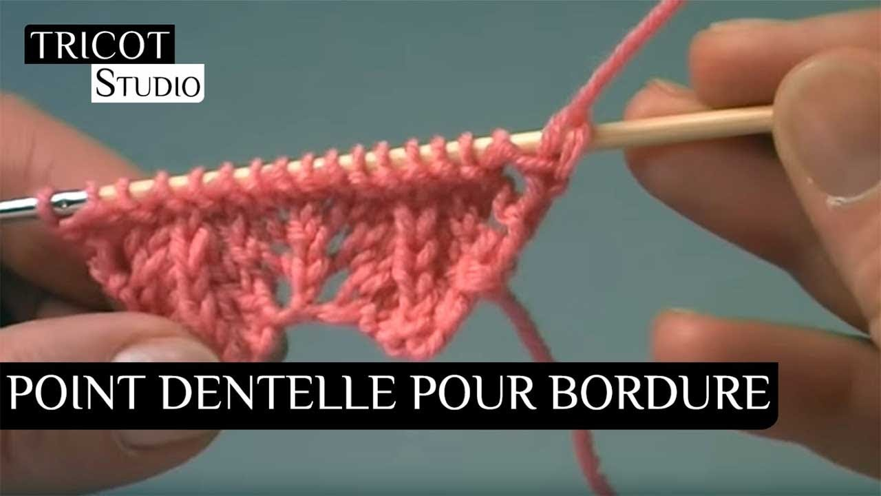 Tricot motif coquillage